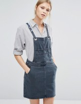 Vila Eyelet Denim Pinafore Dress