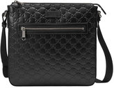 Gucci Signature leather messenger - men - Leather/Nylon/Microfibre - One Size