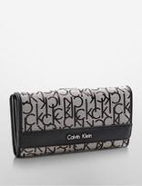 Calvin Klein Monogram Jacquard Mega Flap Wallet