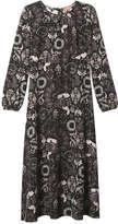 Joe Fresh Women's Print Midi Dress, Black (Size M)