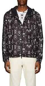 Fendi Men's Bug-Print Hooded Jacket - Black