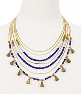 Jessica Simpson Home Grown Tasseled Beaded Multi-Row Necklace