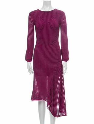 Chloé Striped Long Dress Purple