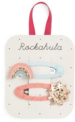Rockahula Glitter Rainbow and Sun Hair Clips (Pack of 2)