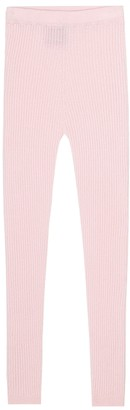 Loro Piana Kids Comfy ribbed-knit cashmere leggings