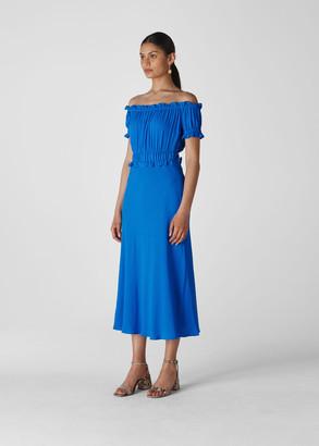Floren Shirred Bardot Dress