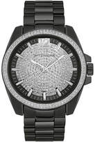 Wittnauer Mens Crystal-Accent Black Stainless Steel Watch WN3057