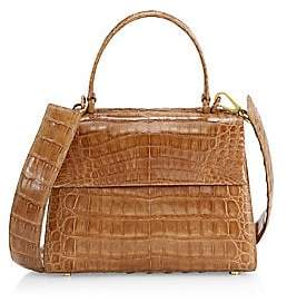 Nancy Gonzalez Women's Small Lexi Crocodile Top Handle Bag