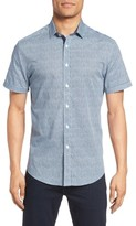 Vince Camuto Men's Abstract Print Sport Shirt
