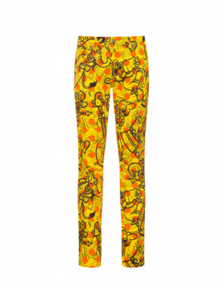 Moschino Cotton Pants Yellow Pages