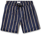 Saturdays NYC Timothy Mid-Length Striped Swim Shorts