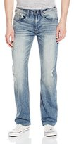 Buffalo David Bitton Men's Six Slim Straight Leg Fashion Denim Stretch Jean