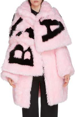 Balenciaga Oversize Faux Fur Coat