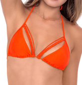 Luli Fama L477229 Strings & Braid Triangle Top in Caliente