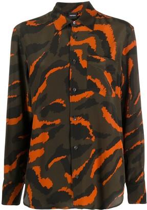 Aspesi Long Sleeve Printed Silk Shirt