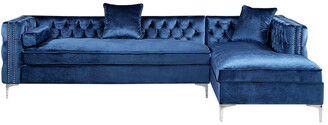 INSPIRED HOME Alison Right Facing Chaise Sectional Sofa
