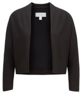 HUGO BOSS - Open Front Cropped Jacket In Italian Satin Back Crepe - Black