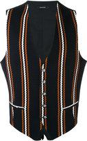 Tagliatore embroidered waistcoat - men - Cotton/Cupro - 50