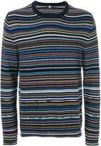 Paul Smith striped knit jumper - men - Cotton/Merino - S