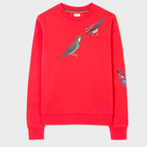 Paul Smith Women's Red Cotton Sweatshirt With 'Bird' Print