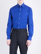 Duchamp Tailored-fit cotton-poplin shirt