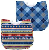 I Play Green Sprouts by 2-pk. Striped & Argyle Waterproof Bibs - Baby