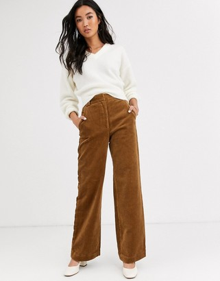 And other stories & cord flared pants in camel-Brown
