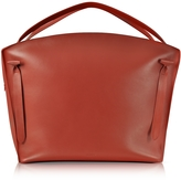 Jil Sander Hill Duo Bright Red Leather Extra Large Handbag