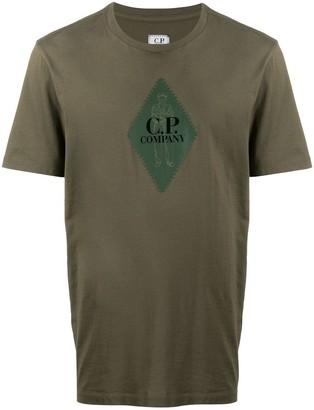 C.P. Company diamond logo print T-shirt