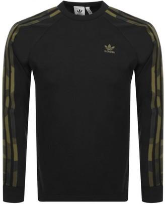 adidas Long Sleeved T Shirt Black