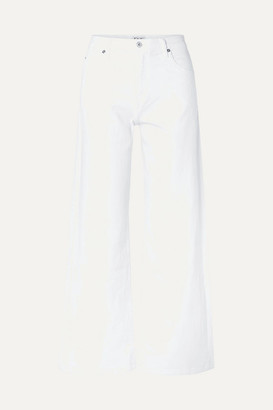 Eve Denim Charlotte High-rise Wide-leg Jeans - White