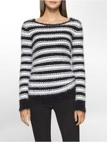 Calvin Klein Striped Eyelash Sweater