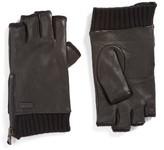 John Varvatos Men's Fingerless Deerskin Leather Gloves