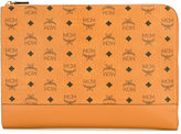 MCM logo print clutch - women - Calf Leather - One Size