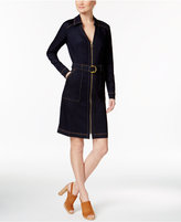 INC International Concepts Belted Denim Shirtdress, Created for Macy's