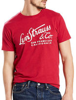 Levi'S Wordmark Graphic Cotton Tee