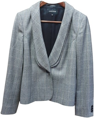Jaeger Grey Wool Jacket for Women Vintage