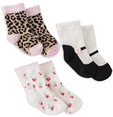 Kate Spade Girls' Multi-Print Socks, Set of 3 - Baby