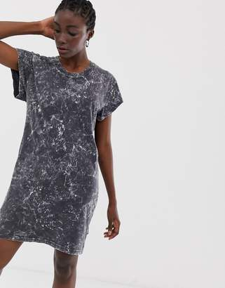 Cheap Monday Media washed out t-shirt dress-Black