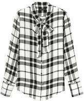 Banana Republic Dillon-Fit Tie-Neck Flannel Shirt