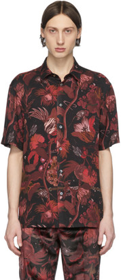 Paul Smith Red and Black Floral Goliath Short Sleeve Shirt