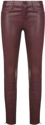 J Brand wet-look skinny trousers
