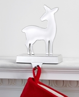 Holiday Lane Silver Deer Stocking Holder, Created for Macy's