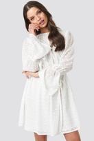 NA-KD Schanna X Bell Sleeve Flowy Mini Dress