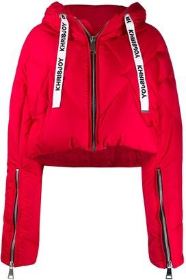 KHRISJOY Cropped Puffer Jacket