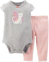 Carter's 2 Piece Bodysuit Set (Baby) - Orange-12 Months