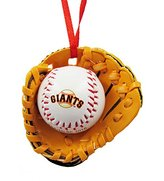 Kurt Adler San Francisco Giants Ball and Glove Christmas Ornament