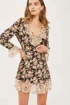 Topshop TALL Ruffle Tea Dress