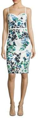 Black Halo Daria Floral-Print Sheath Dress