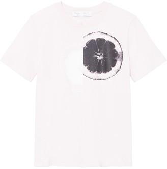 Proenza Schouler White Label Lemon Print Baby Tee T-Shirt